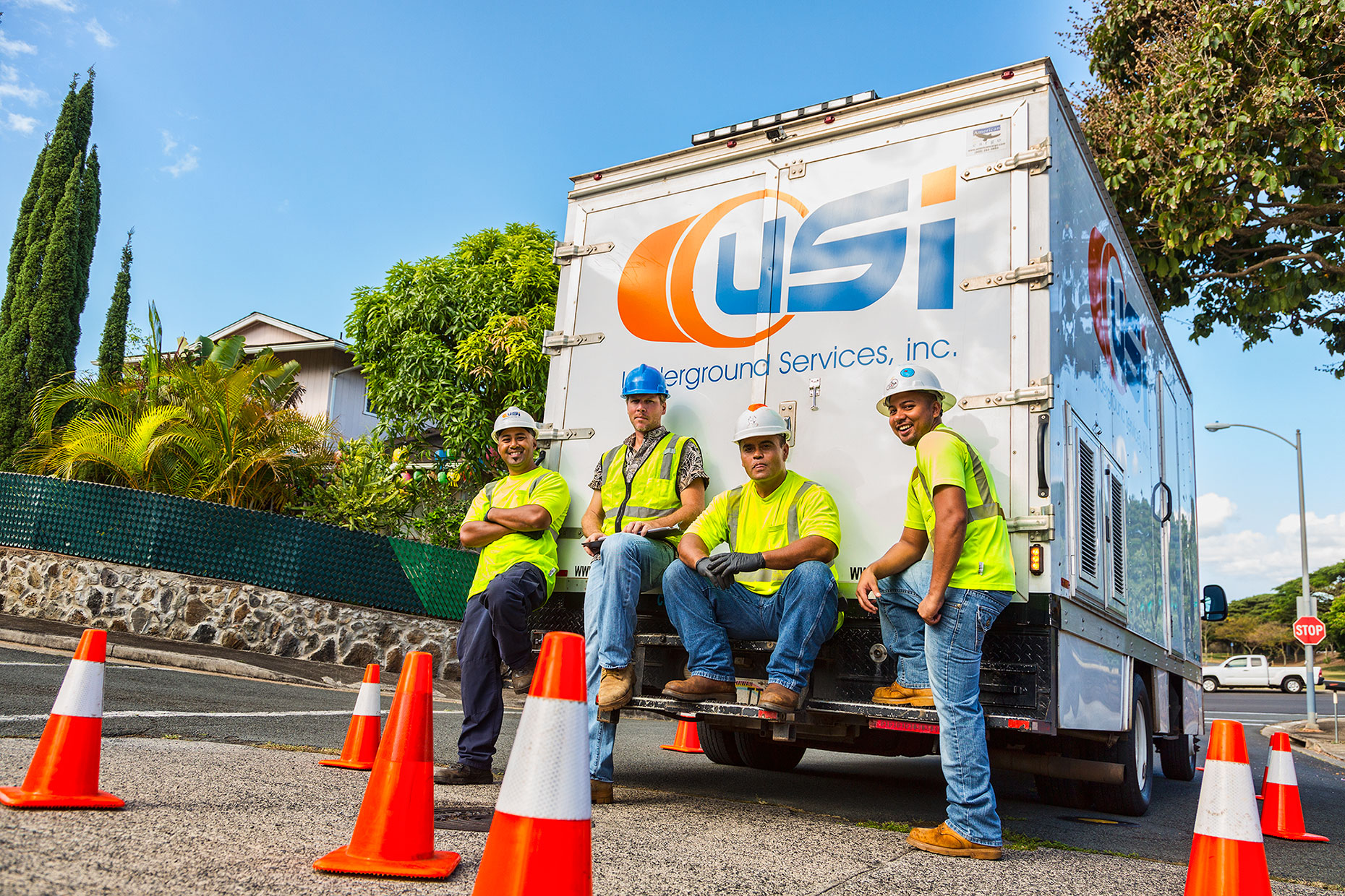 Underground Services, Inc. crew, Honolulu, Hawaii.