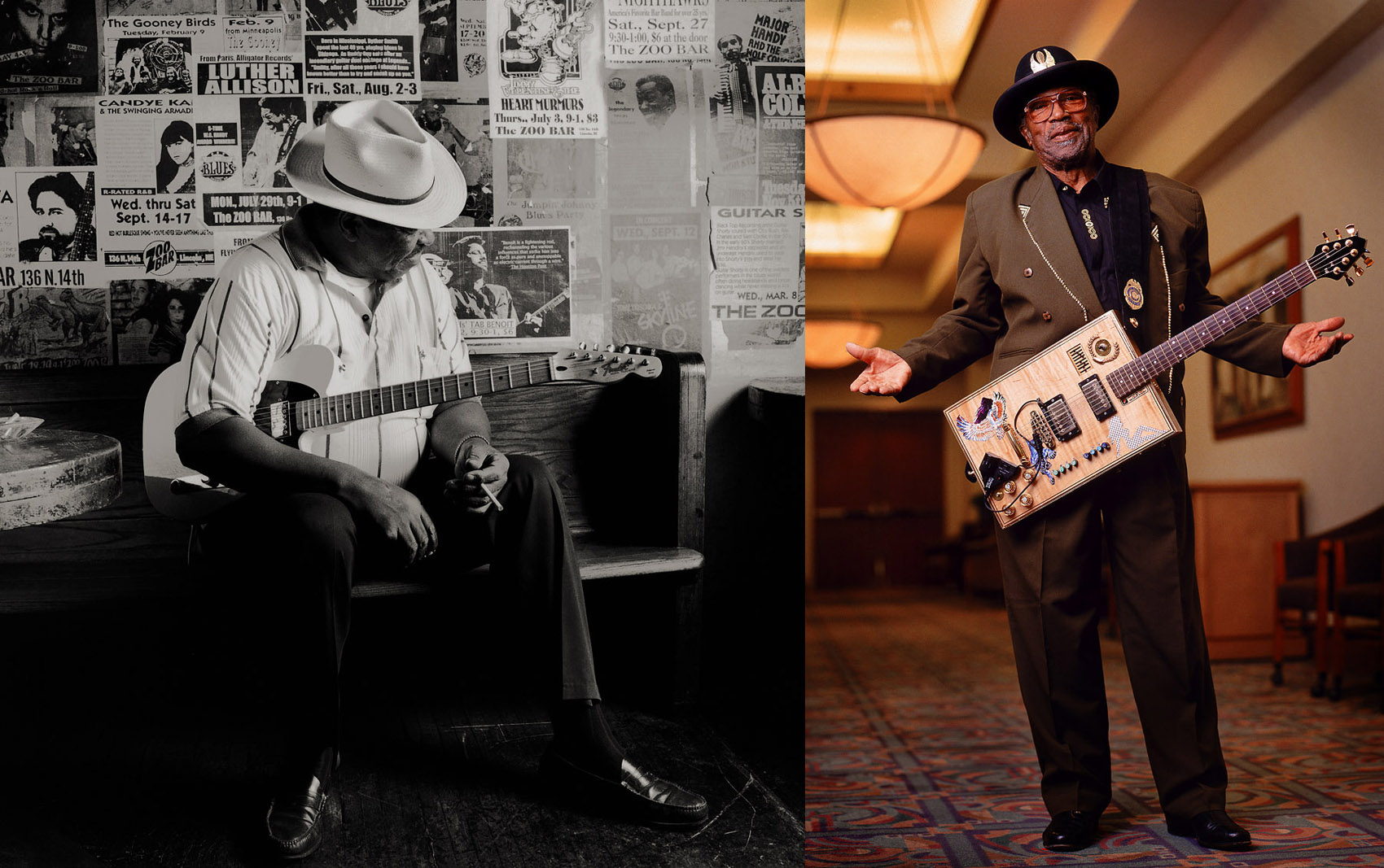 Magic Slim, blues legend; Bo Diddley, rock and roll pioneer.